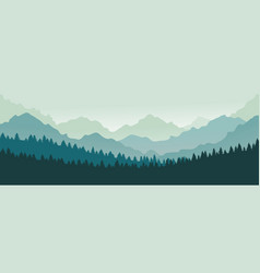 mountains panorama forest mountain range vector image