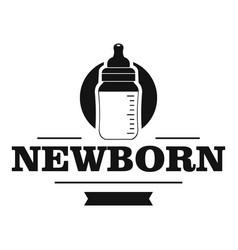 newborn bottle logo simple black style vector image