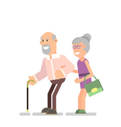 old man and woman vector image
