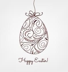 Ornamental easter egg vector