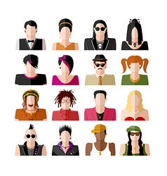 People icons set vector