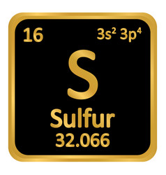 periodic table element surfur icon vector image