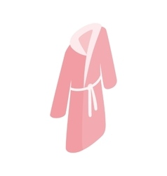Pink bathrobe icon isometric 3d style vector