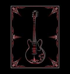 Pinstripe-guitar vector