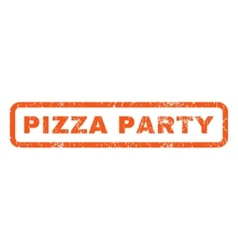 Pizza Party Rubber Stamp vector image