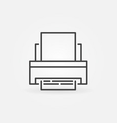 printer concept icon in thin line style vector image