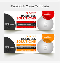 Red business corporate facebook cover template vector