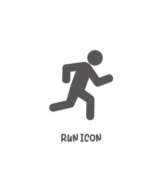 run icon simple flat style vector image