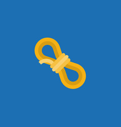 simple rope icon in flat design vector image