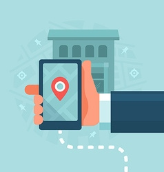 Smart Devices in Local Business Marketing vector image