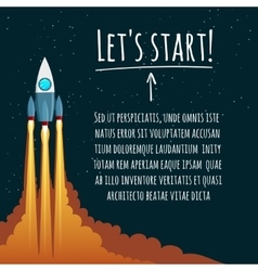 Startup concept with rocket launch vector image