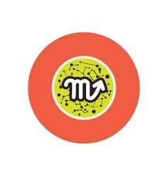 Stylish icon in color circle zodiac signs scorpio vector
