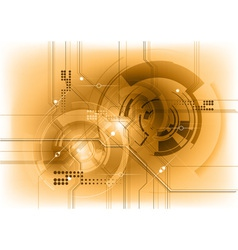 Tech background in the bronze color vector