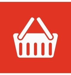 The basket shoping icon Shop Basket symbol Flat vector image