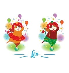 The signs of the zodiac Guinea pig Leo vector