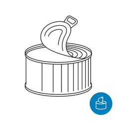 Tin can opened canned foods or drinks symbol vector