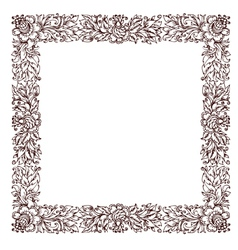 vintage frame with floral ornament vector image vector image