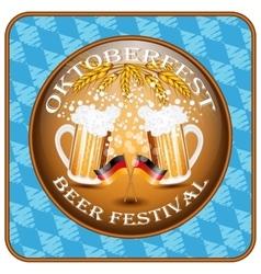 Vintage styled emblem for Oktoberfest festival vector