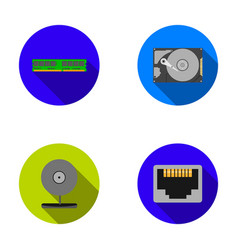 webcam memory card hard drive connector vector image