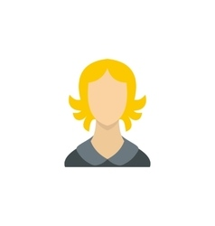 Woman with blond hair icon flat style vector image