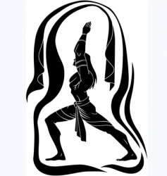 Yoga man vector image