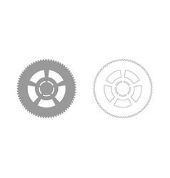 car wheel the grey set icon vector image vector image