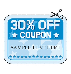 Coupon sale thirty percent discount vector image vector image
