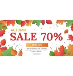 Discounts of 70 percents banner vector image vector image