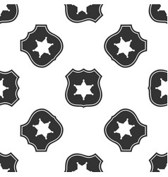 police badge icon seamless pattern vector image vector image