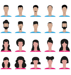 set of people icon vector image