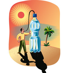 thirsty in the desert vector image
