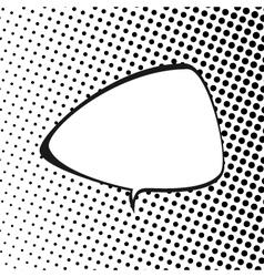 Triangular Speech Bubble Pop Art vector image