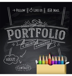 Web design template Eps10 vector image vector image