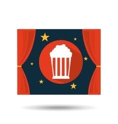 concept cinema theater pop corn graphic design vector image vector image