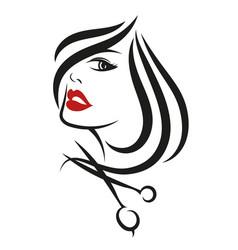 female face beauty salon vector image