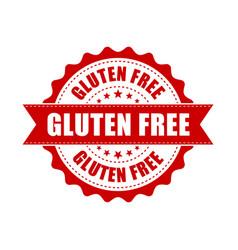 gluten free grunge rubber stamp on white vector image