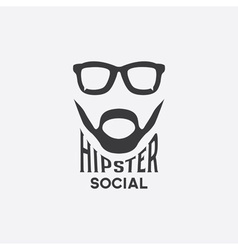 hipster social concept design template vector image vector image