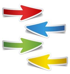 peeling arrow stickers vector image vector image