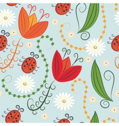 spring pattern vector image