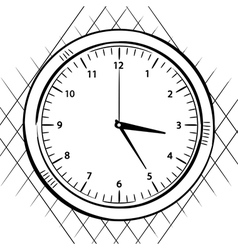 wall clock sketch vector image vector image