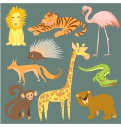African wild animals set Royalty Free Vector Image