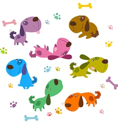 Cartoon Dogs Collection vector image