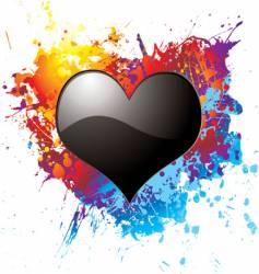 dark love vector image