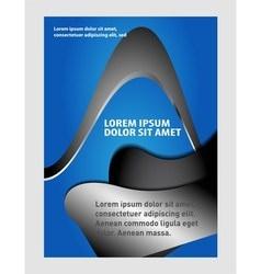 Flyer design background vector image vector image