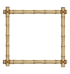frame bamboo vector image vector image