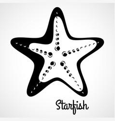 logo black starfish vector image vector image