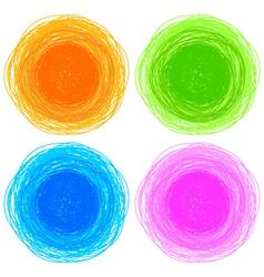 pencil colorful hand drawn circles vector image vector image