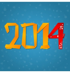 2014 New Year celebration card vector
