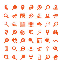 49 search icons vector image