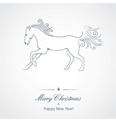 a horse - symbol new 2014 year vector image